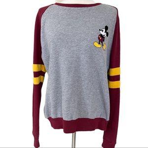 Disney Women's Medium Pull Over Sweater Grey sz M